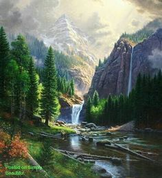 mountain scene by Mark Keathley Mountain Scene, Landscape Paintings, Nature Pictures, Painting, Beautiful Paintings, Scenery Paintings, Pictures, Beautiful Landscapes, Pictures To Paint