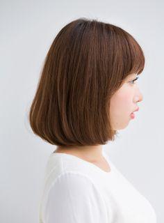 【ボブ】柔らかい質感カットのワンカールボブ/Ramieの髪型・ヘアスタイル・ヘアカタログ|2016春夏