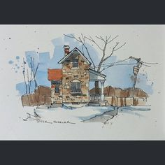 «Latest video posted on YouTube. An old Stone Farmhouse. Link to my YouTube Channel is in my bio or Cut and Paste: https://m.youtube.com/c/petersheelerart…»