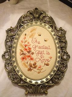 """""""The Greatest Gift is Love""""."""