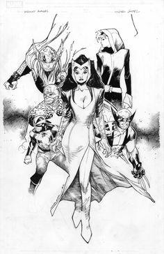 Oliver Coipel | Uncanny Avengers #1 sketch variant cover
