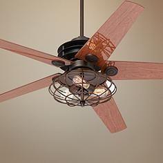 "60"" Casa Venue Nostalgic Industrial Bronze Ceiling Fan $375"