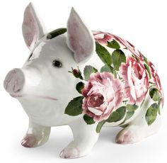 Antique Weymss Ware ceramic pig, designed and made in Scotland