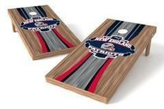 New England Patriots Single Cornhole Board - Wood
