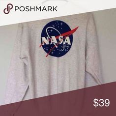 NASA adult small sweater size is adult small! I ship IMMEDIATLY and this is SUPER soft! Ask to buy on M ercari  for a cheaper price! Brandy Melville Sweaters