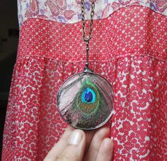 Peacock necklace Eye of the Natural Peacock  Ideal by MARIAELA, $47.00
