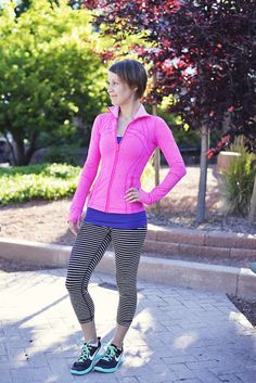 To me, this outfit is classic lululemon.  A little girly, a little fun, bright, and super-flattering.  Plus, it incorporates some of my all-time favorites.