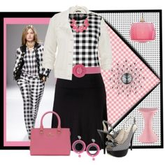 Gingham in the Spring Pink #PolyvorePlus