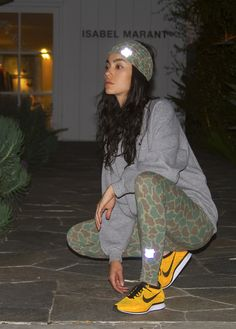 Adrianne Ho in Undefeated and Isabel Marant Sport Fashion, Cute Fashion, Flyknit Racer, Nike Flyknit, Mega Sena, Cute Workout Outfits, Running Pants, Nike Shoes Cheap, Sporty Chic