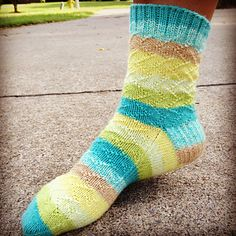 Twisted Breeze Socks, Easy Breezy Pattern featuring swirl and zig zag patterns