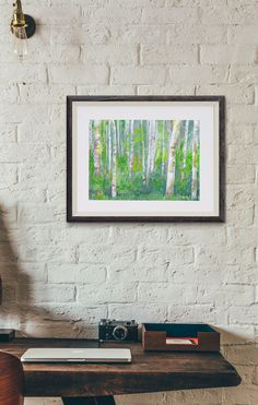 ART PRINT of an Original Painting Birch Trees by OffRiverRoad  The prints just arrived! I think this one would look great in a nursery.