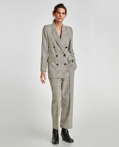 STYLECASTER | 35 Suits We'd Actually Wear | Grey Double Breasted Suit