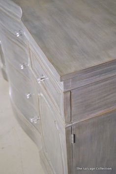 beautiful grey and white wash kitchen cabinets? - for that dresser for the guest room?!