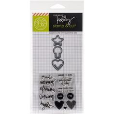 Hero Arts Kelly Purkey Stamp & Cut-Everyday Clips