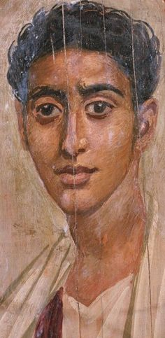 Roman-Egyptian portrait (wax and pigment on wood), 1st century AD, (Walters Art Museum, Baltimore).