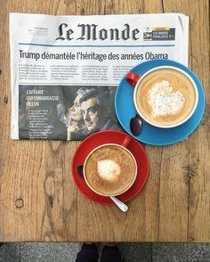 "854 mentions J'aime, 16 commentaires - Olga Seraya (@olga_seraya) sur Instagram: ""Morning in Paris ☕️🗞🖤 #morecoffeeplease"""