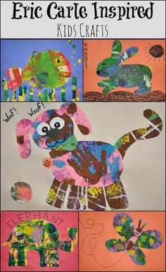 Eric Carle Inspired Animal Crafts  - The Artist Who Painted a Blue Horse