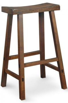 Saddle Seat Bar Stool - a more realistic option for the kitchen island.