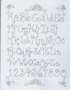 abecedario de letras country