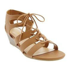 Old Navy Womens Gladiator Wedge Sandals - Brown found on Polyvore