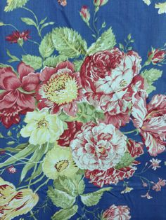"""A beautiful pair of Waverly Masterpiece Garden Room Window Panels - 84X42"""" each. French Blue Rose Fabric #Waverly #FrenchCountry"""
