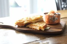 The addition of Kimchi & granny smith apple transform this toastie to a unique, flavourful sandwich. Apples And Cheese, Granny Smith, Kimchi, Recipe Using, French Toast, Sandwiches, Cooking, Breakfast, Unique