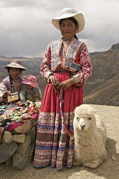A Girl and Her Alpaca by johnkershner, via Flickr