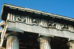 Metopes and triglyphs of the Hephaistion in the Athenian Agora