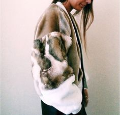 the design studio faux fur bomber Fall Outfits, Fashion Outfits, Womens Fashion, Fashion Trends, Fur Bomber, Mode Boho, Up Girl, Mode Inspiration, Looks Style