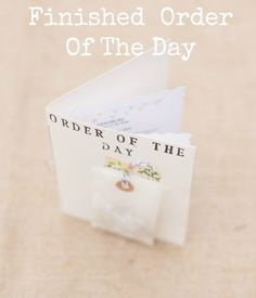 Great idea if there's enough time left. DIY Tutorial: Order Of The Day With Confetti Pouch