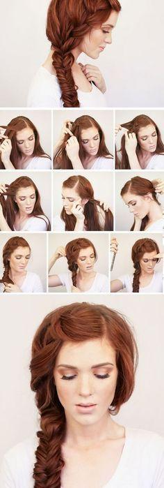 Bohemian Side Braid   Easy Boho Hairstyles for Medium Hair More