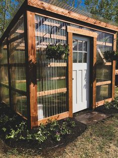 Lean To Greenhouse, Backyard Greenhouse, Backyard Landscaping, Greenhouse Ideas, Homemade Greenhouse, Design Jardin, Garden Design, Fence Design, Outdoor Projects