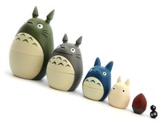 My Neighbor Totoro Matryoshka - not sure who loves these more, me or my kids. My son loves putting them together and then having me take them apart again (over and over and over again -ha!)
