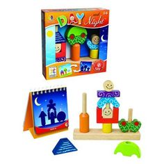 Help your child work on their problems solving skills with the SmartGames Day and Night Preschool Puzzle Game. Try to recreate the puzzles you see in the challenges book for a fun unique twist on a classic puzzle game. Preschool Puzzles, Brain Teaser Puzzles, Logic Games, Game Sales, Wooden Puzzles, Wooden Toys, Wooden Blocks, Brain Teasers, Game Night