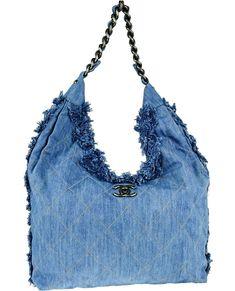 Chanel Chain Hobo Diamond Quilted Light Blue Denim Handbags bdb31c02aa802