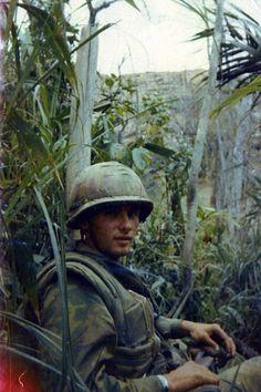 US Marine of the 1st Battalion, 4th Marines, 1969. ~ Vietnam War