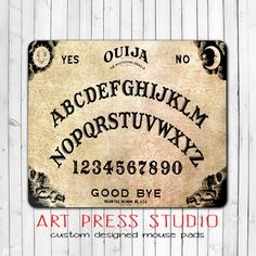 Ouija Board Mouse Pad, Vintage Ouija Board Mousepad, Geekery, Unique Gift, Supernatural