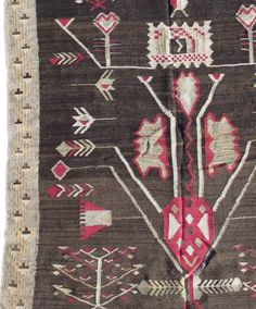 For Sale on - Like many Bessarabian kilims, this runner shows a synthesis of local folk motifs and designs inspired by century French carpets popular at the Russian Kilim Runner, Rugs On Carpet, Carpets, Runes, 18th Century, Thank You Cards, Bohemian Rug, Folk, Kids Rugs