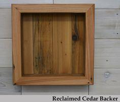 White Custom Reclaimed Wood Shadow Box