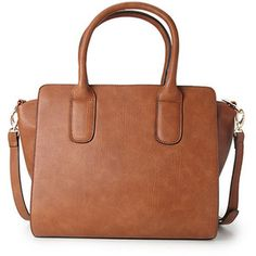 8b69650a96 FOREVER 21 Structured Faux Leather Satchel Borsa Marrone, Borsa Satchel,  Borse Satchel, Borsa