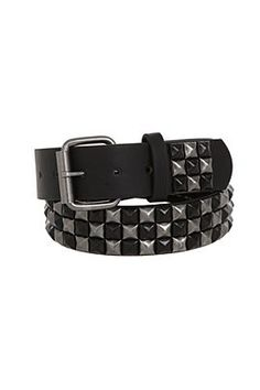 0831c728ffc  19.50 Black and Silver Burnished Checkered Pyramid Stud Belt Belts    Buckles