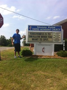 My friend ran into an interesting church sign today