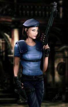 Julia Voth as Jill Valentine by Aaron Page #residentevil #jillvalentine #juliavoth