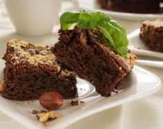 Brownies au chocolat et aux noisettes sans sucre Bon Dessert, Biscuit Cookies, Meatloaf, Biscuits, Muffins, Clean Eating, Paleo, Healthy Recipes, Healthy Food