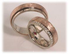 eheringe rotgold   Trauringe/Eheringe IM304, ca. 41 Diamanten Brillantkranz – 0,50ct ...