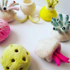 Oooh juicy  #felt #felting #the100dayproject #the100dayproject2019 #textileart #crafteveryday #feltartist #textileartist… Textile Artists, Felting, Dinosaur Stuffed Animal, Toys, Animals, Animales, Felt, Felt Fabric, Animaux