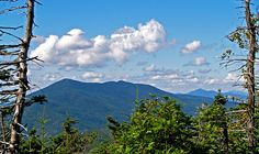 Viewed from Mt. Grant in South Lincoln: left to right, Mt. Abraham, Mt. Ellen, the Camel's Hump and in the far distance Mt. Mansfield.