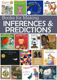 Books for Making Inferences and Predictions fantastic texts for teaching kids to read between the lines This Reading Mama Reading Strategies, Reading Skills, Teaching Reading, Teaching Kids, Learning, Guided Reading, Reading Response, Reading Club, Shared Reading