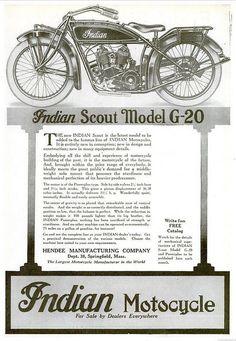 Indian Motorcycles - 1920 by CharmaineZoe, via Flickr