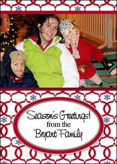 Photo Gift Tags  Red Blue Trellis Snowflake by MelindaBryantPhoto, $5.35 Personalized, photo, printable, print at home, family, keepsake, Christmas, holiday, neighbor gift